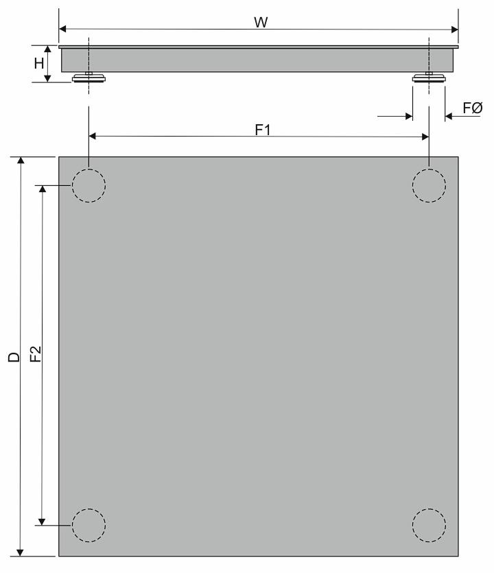 Measurement sketch floor scale H