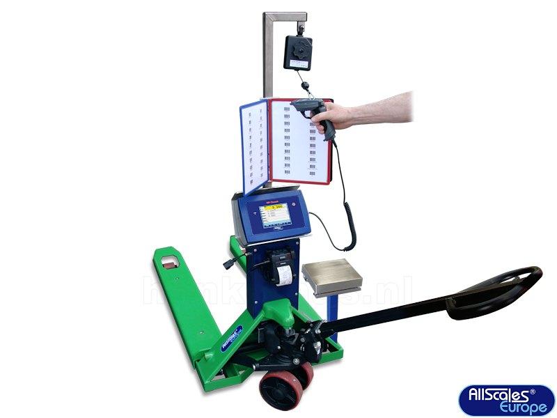 PTI Mobile Counting Handpompwagen met Scanner en HP Touch